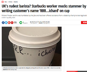 Coffee cup with 'RRR…ichard' written on it.